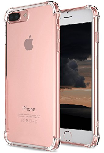 iPhone 8 Plus Case, iPhone 7 Plus Case, TUPREX iPhone 8 Plus, iPhone 7 Plus Crystal Clear Cover Case [Shock Absorption] with Soft TPU Bumper for iPhone 8 Plus, iPhone7 Plus 5.5 Inch (2016) - Clear