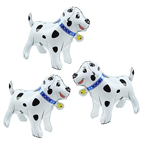 - Cute 3D Dog Balloon Stand Kit Doggy Walking Animal Balloons For Kids Boys Girls Party Supplies Baby Showers Birthday Decorations, 3 pcs Dog Mylar Foil Balloons