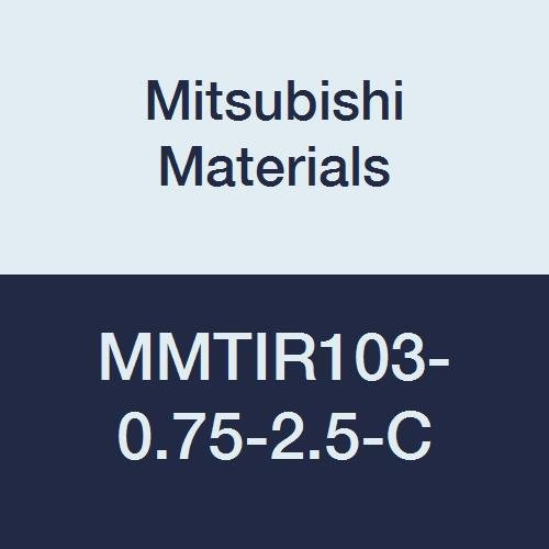 0.625 Shank Dia Right Mitsubishi Materials MMTIR103-0.75-2.5-C Internal Threading Boring Bar with MMT16IR Insert 0.750 Cutting Dia. With Coolant 2.5/° Angle