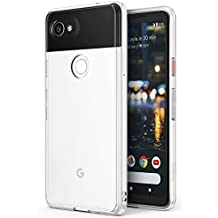 Ringke [FUSION] Google Pixel 2 XL Phone Case Crystal Clear Minimalist Transparent PC Back TPU Bumper [Drop Protection] Scratch Resistant Natural Shape Protective Cover for Pixel 2 XL - Clear