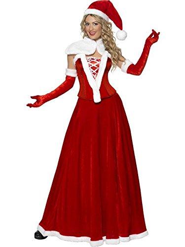 Mrs. Santa Claus Adult Costume, Red/White, (Naughty Mrs Claus Costume)