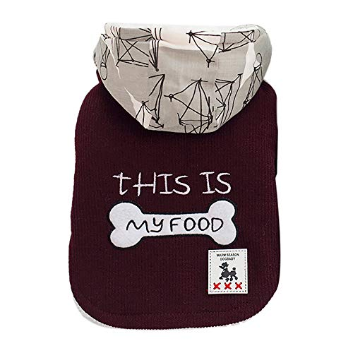 (Cat Dog Coat Jacket Pet Supplies Clothes Winter Apparel Puppy Costume Bone Cotton-Padded Clothes