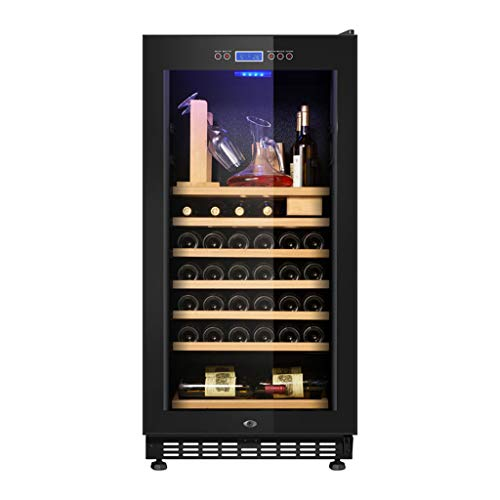 Hermsi 188L Wine Cellar Refrigerator, 5-22 °C Red/White Wine Cooler/Chiller, Touch Control/Led Digital Temperature Display/Quiet Operation Fridge