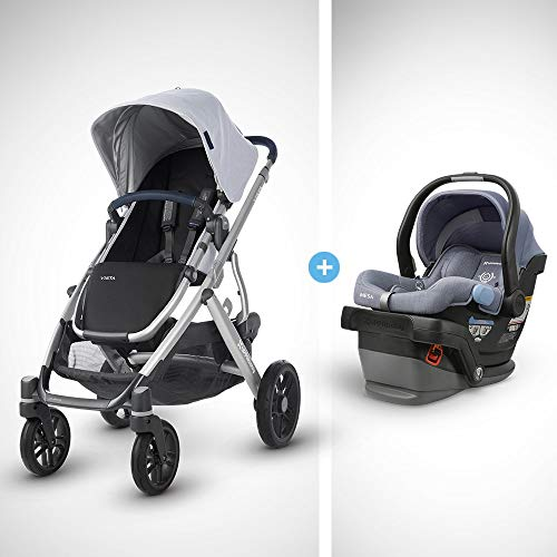 Best Review Of Vista Stroller - William (Chambray Oxford/Silver/Navy Leather) + MESA Infant Car Seat...