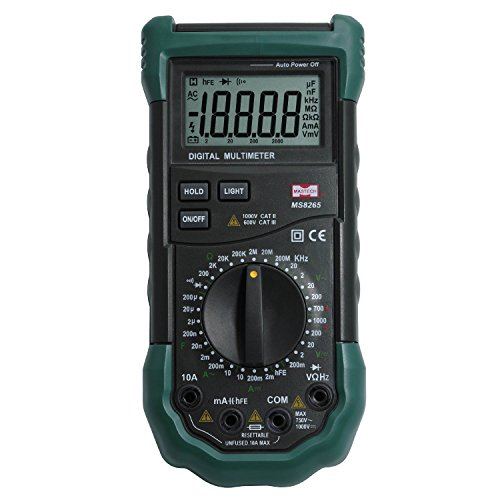 Mastech MS8265 LCD Digital Multimeter AC DC Volt Ampere Ohm Capacitance Frequency Tester Meter Transistor Continuity Diode Test