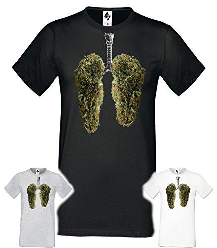 Taille 4sold Heavy De Leaves Rond T Mens Cotton Col Noël Blanc shirt Arbre Fit Court Gris Regular Heureux Noir S Poumons xxl qqCUwr
