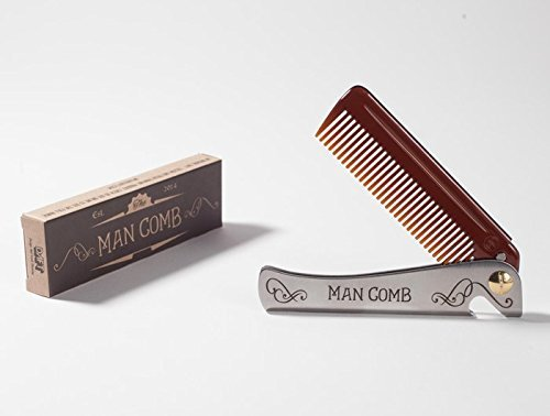 Polycarbonate Durable Bottle (Man Comb. The Ultimate Tool for your Hair, Beard and Beer.)