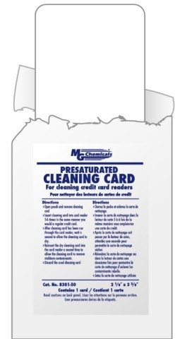 G CARDS, (Presaturated Cleaning Cards)