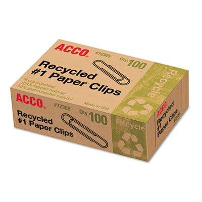 Clips de papel reciclado, número 1 tamaño, 100/caja, 10 cajas/paquete: Amazon.es: Electrónica