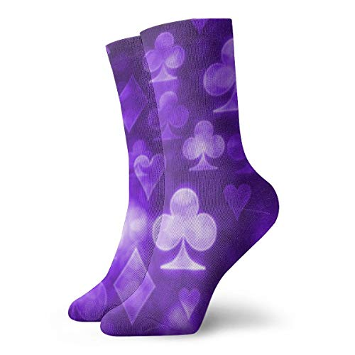 WEEDKEYCAT Playing Cards Symbols Adult Short Socks Cotton Classic Socks for Mens Womens Yoga Hiking Cycling Running Soccer ()