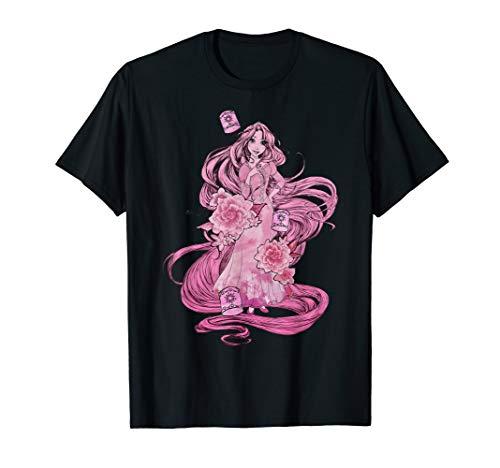 Disney Tangled Pink Tonal Rapunzel Portrait Graphic T-Shirt]()