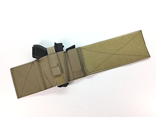 Daltech Force Safestcarry Boot Wrap Ankle Gun Holster with Mag Holster - CCW Concealed Carry Gun Holster for Over the Boot (Military Olive Tan)