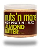 Nuts 'N More Almond Butter Spread, High Protein, Great Tasting, All Natural Sports Nutrition, 16 oz Jar