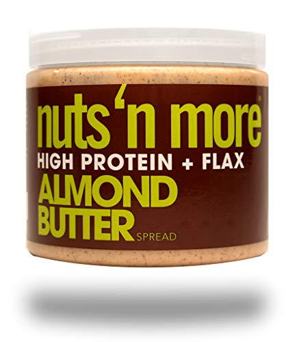 Oz Almonds 16 Jar (Nuts 'N More Almond Butter Spread, High Protein, Keto, Great Tasting, All Natural Sports Nutrition, 16 oz Jar)