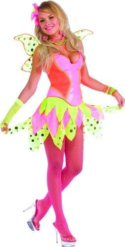 Rubie's Costume Deluxe Adult Rave Pixie Costume, Pink, Standard