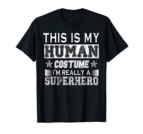 Human Costume I Am Really Superhero Funny Halloween