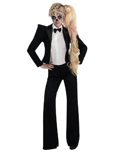 Lady Gaga Tuxedo Costume, Black, (Rock Star Costume Ideas For Women)