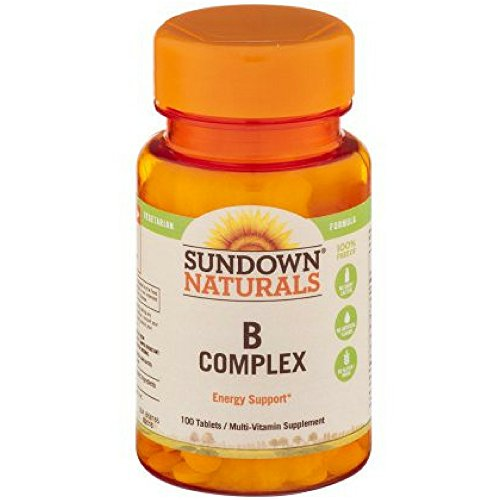 Sundown Naturals B-Complex, Tablets 100 ea ( Pack of 4)