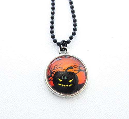 Jack O Lantern Necklace Halloween Accessory