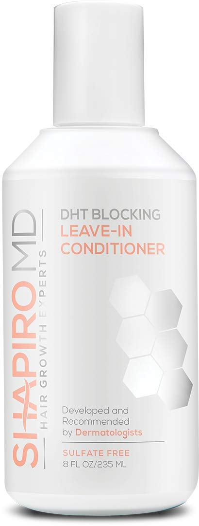 Hair Loss Leave-in Conditioner | All-Natural DHT Blockers for Thinning Hair Developed by Dermatologists | Experience Healthier, Fuller and Thicker Looking Hair - Shapiro MD | 1-Month