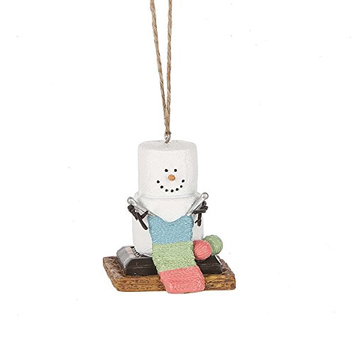 S'mores Original 2017 Knitting Snowman Ornament