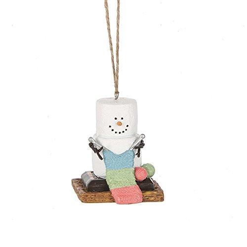 S'mores Original 2017 Knitting Snowman Ornament