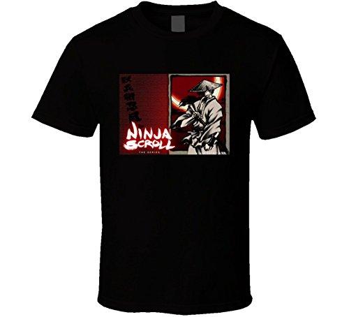 Ninja Scroll The Series Anime Tv Show Poster Cool Fan T Shirt XL Black