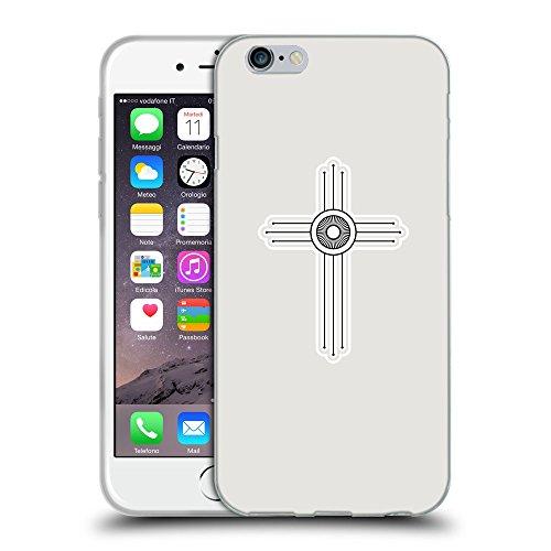 """GoGoMobile Coque de Protection TPU Silicone Case pour // Q09410631 Croix chrétienne 51 Platine // Apple iPhone 6 4.7"""""""