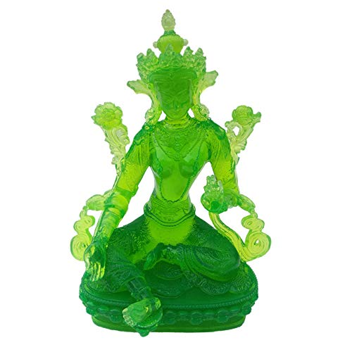 Three Little Pigs Statues - Prime Fengshui Glass Green Tara Statue India Buddhist Sculpture Goddess of Compassion and Lucky Home Decoration