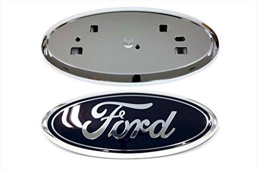2011-2014 Ford Edge Front Grille Blue Emblem & Chrome Grill Holder Mount OEM NEW (Chrome Oem Grill)