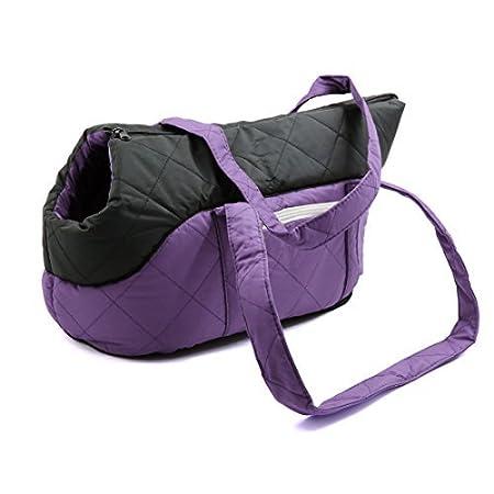 Amazon.com : eDealMax Bolso púrpura plegable Esponja perrito ...