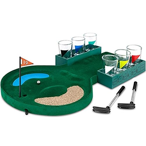 Epic 03-120 Golf Drinking Game Board Set with Small Shot Glasses & Tiny Clubs