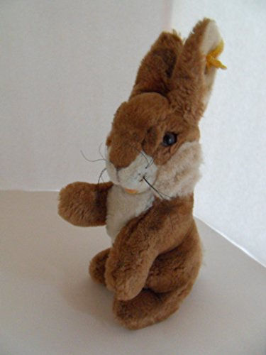 Steiff Rabbit Bunny Large Cosy Manni Brown/White Button and Flag Germany 1343
