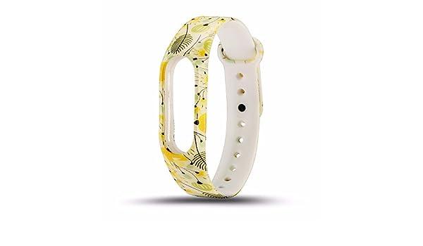 Modaworld _Correa de reloj Correa de muñeca Nuevo reemplazo de Pulsera de Pulsera de Correa de Silicona para XIAOMI MI Band 2 (C): Amazon.es: Deportes y ...