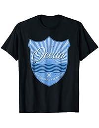 Ocean is Calling Tshirt - Cruise, Boating, Blue, Vintage