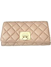 Michael Kors Astrid Quilt Leather Carryall Wallet (Ballet Pink/Gold)