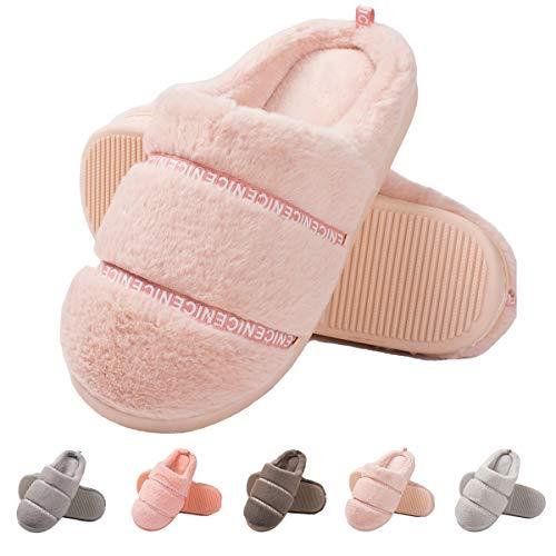 2ea304f16179c5 Women s Memory Foam House Slippers-Fuzzy Warm Slippers Soft Plush Home  Slippers Fluffy Slip On