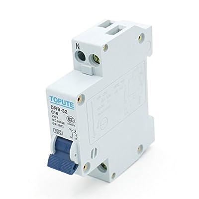 Baomain Circuit Breaker DRB-32 1P+N AC 230V 16A Overload Protection DIN Rail Mount