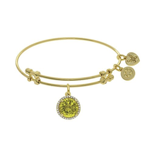 JewelryWeb Brass with November Yellow Angelica Bangle Bracelet -  RCB320355