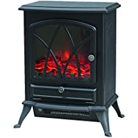Trustech Electric Stove Heater – Portable Home Fireplace with Log Burning Flame Effect