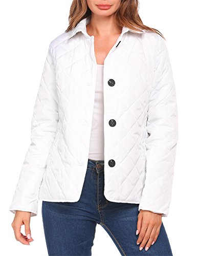 white quilted jacket - 8