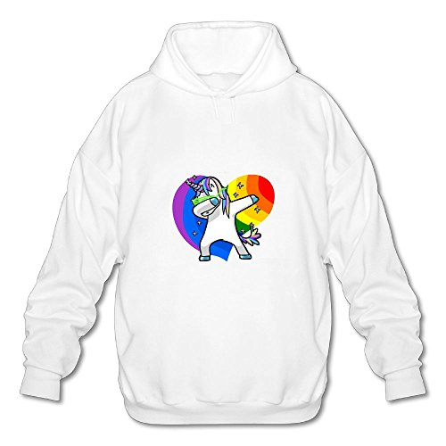Rainbow Gay Pride Heart Shape Hip Hop Dabbing Dab Dance Unicorn Casual Hoodie Sweatshirts Hooded Pullover For (Gay Halloween Los Angeles)