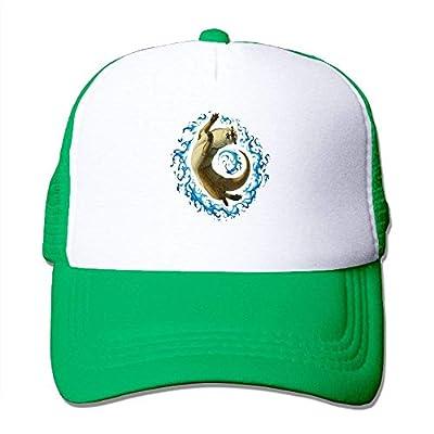 Yoga Cat Mens Adjustable Snapback Baseball Cap Mesh Trucker Hat by cxms