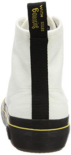 Tela Altas Zapatillas de Dr Canvas Mujer Blanco para White Martens Monet TxUwqBR
