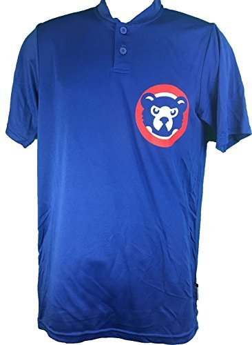 Majestic Chicago Cubs Cooperstown Collection Two Button Dri Fit Jersey T-Shirt (Small) (Majestic Cooperstown Collection Jersey)