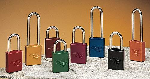 Red Lockout Padlock, Alike Key Type, Aluminum Body Material, 24 PK
