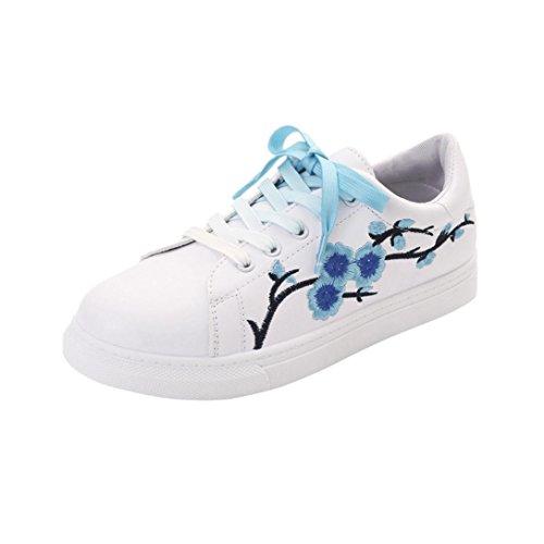 Anxinke Women's Fashion Printed Flat Sneakers Shoes