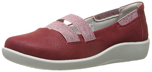 Clarks Womens Cloudsteppers Sillian Repos Mary Jane Flat Cherry