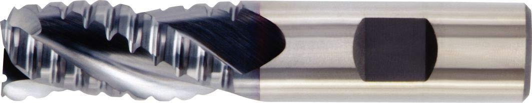 TiCN HSS-PM 3-Flute 0.014 Chamfer Weldon Shank RH Cut 0.5 Cutting Diameter WIDIA Hanita TC6A0R13005 High Performance 6A0R HP Roughing End Mill