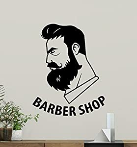 Barbershop Wall Decal Stylist Hairdressing Fashion Hair Salon Logo - Custom vinyl wall decals for hair salonvinyl wall decal hair salon stylist hairdresser barber shop